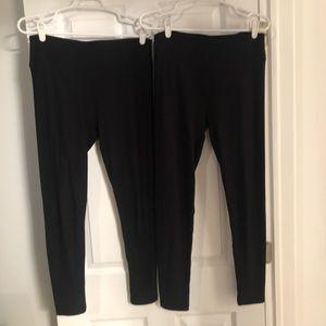 Two Pairs One Size Black LuLaRoe Leggings